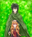 Naofumi and Raphtalia. - anime fan art