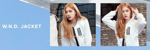 Rosé Looks Cool and Classy for Adidas W.N.D 夹克