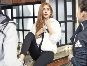 Rosé Looks Cool and Classy for Adidas W.N.D Jacket