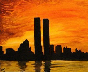 Silohuette Of The Twin Towers