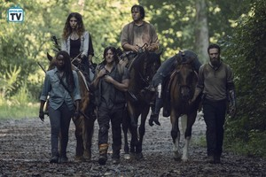 9x09 ~ Adaptation ~ Michonne, Magna, Daryl, Eugene, Aaron and Jesus