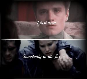 Peeta/Katniss Fanart - Somebody To Die For
