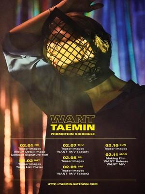 Taemin comeback schedule 'Want'