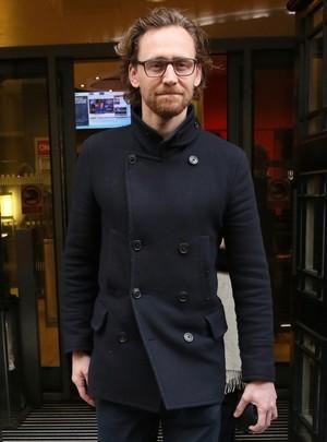 Tom Hiddleston at BBC Radio 2 on January 18, 2019
