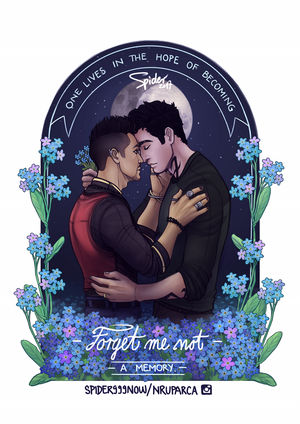 Alec/Magnus Fanart - Forget Me Not