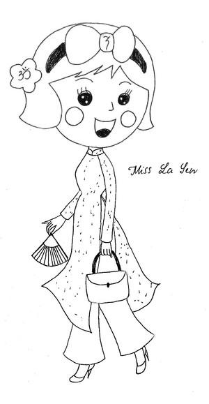 Miss La Sen in aodai