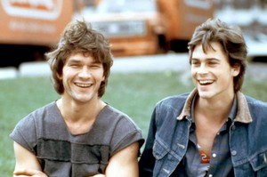 Patrick Swayze and Rob Lowe in 'Youngblood'