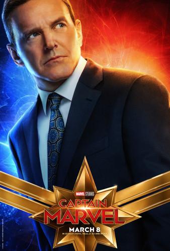Marvel's Captain Marvel Hintergrund titled Captain Marvel (2019) promo posters