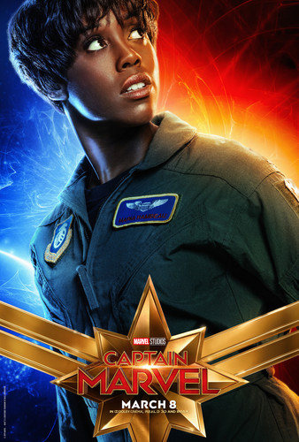 Marvel's Captain Marvel achtergrond titled Captain Marvel (2019) promo posters