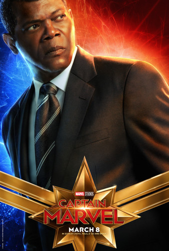Marvel's Captain Marvel achtergrond entitled Captain Marvel (2019) promo posters