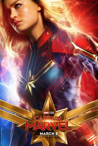 Marvel's Captain Marvel achtergrond titled Captain Marvel (2019) promo posters