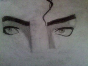 My drawing of Mike's beautiful eyes I did