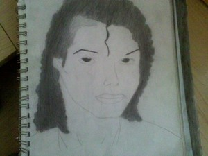 My drawing of mike that I worked really hard on