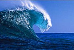 Lavendergolden Hintergrund entitled Ocean Waves