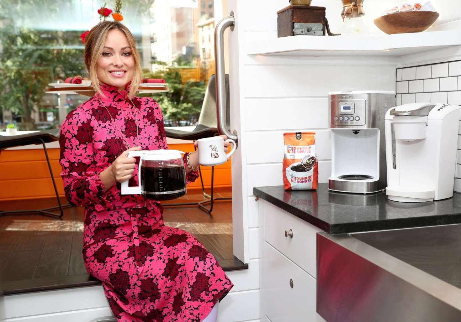 Olivia Wilde ~ 'America Runs On Dunkin' Photoshoot ~ October 2018