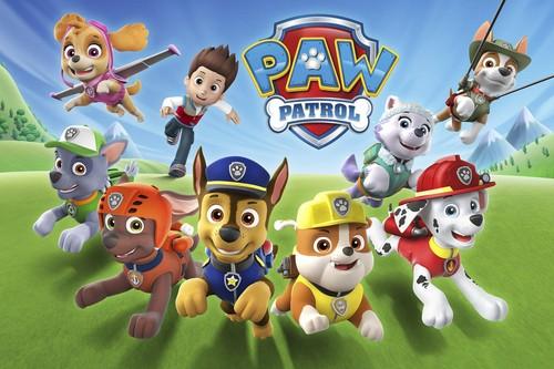 PAW Patrol karatasi la kupamba ukuta titled Paw Patrol