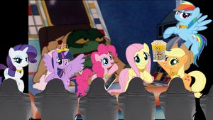 Princess Twilight Sparkle and Fluttershy at the cinema 3