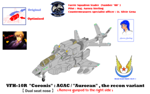 ( Fixed wing mode) VFH-10R Recon AGAC Coronis