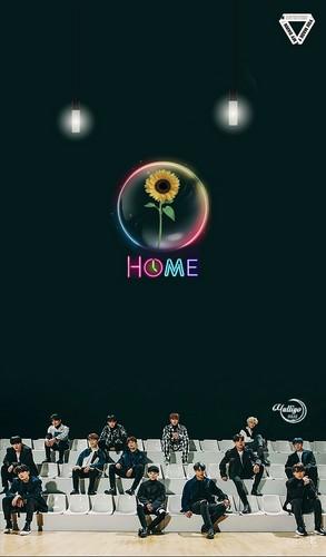yulliyo8812 Hintergrund entitled SEVENTEEN Home 2 #LOCKSCREEN