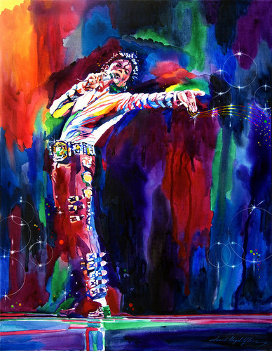 Michael Jackson achtergrond entitled The Entertainer
