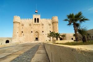A hari IN kastil, castle IN ALEXANDRIA EGYPT