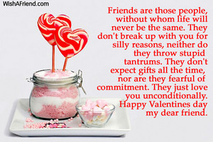 A Valentine's 일 Message for a Friend