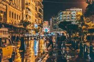 ALEXANDRIA EGYPT DOWNTOWNIGHT 8PM