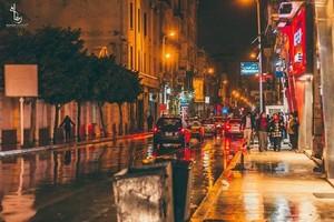 ALEXANDRIA EGYPT রাস্তা NIGHT 8PM