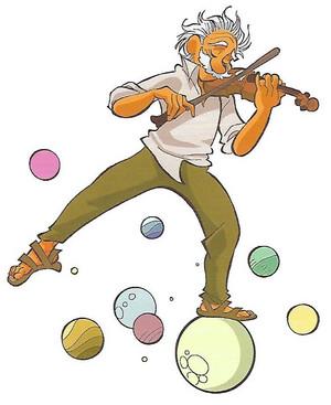 Albert Einstein che suona il violino
