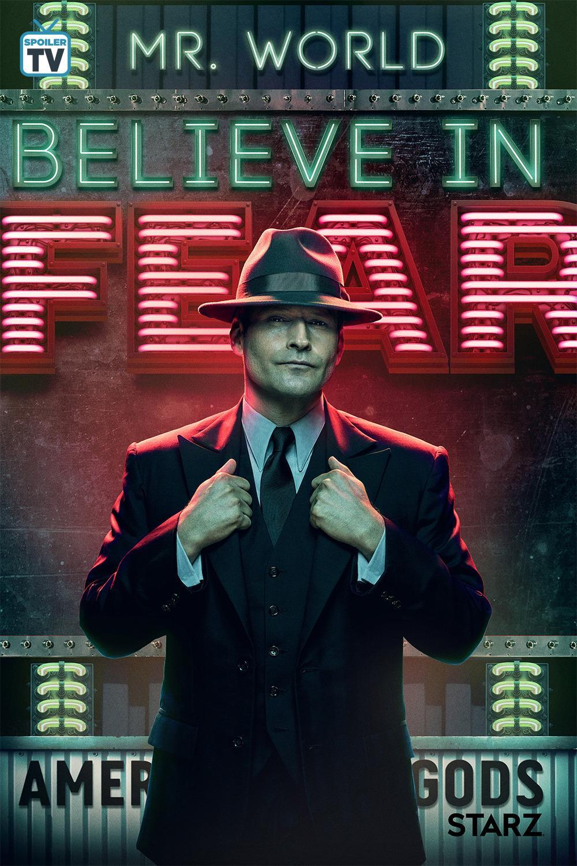American Gods - Season 2 Poster - Believe in Fear