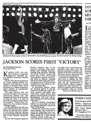 Article Pertaining To Victory Tour
