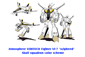 Atmosphere VERITECH VF-7 sylpheed Skull squadron