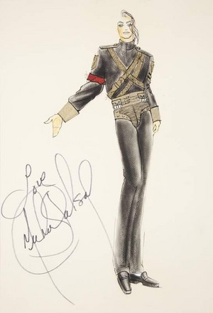 Autographed. Costume design Sketch