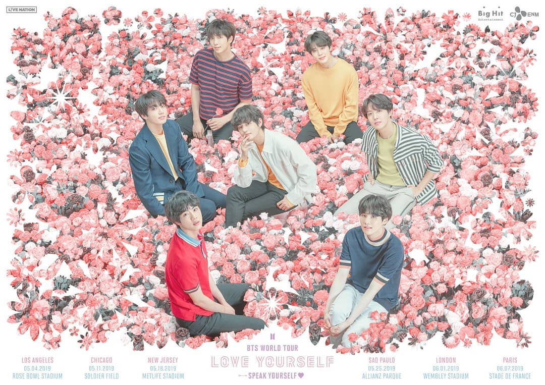 Bangtan Boys amor Yourself - Speak Yourself Poster