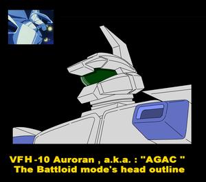 Battloid mode standard VFH-10 Auroran AGAC ( head parts )