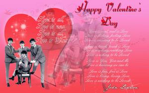 Beatles Valentine's araw Card