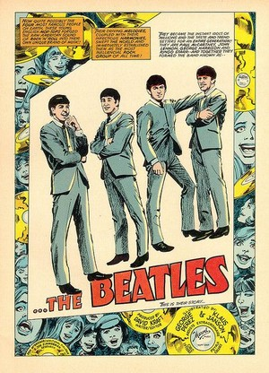 Beatles comic page