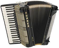 Black Hohner bajo Accordion (Harmonika)