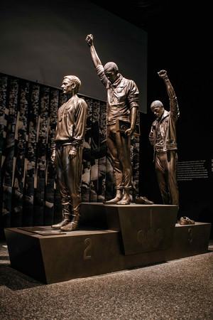 Black Power Salute Statue