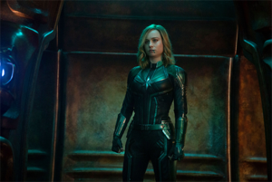 "Brie Larson as ""Carol Danvers"" in Captain Marvel"