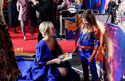 Marvel's Captain Marvel fond d'écran entitled Brie Larson attending Captain Marvel European Gala Premiere