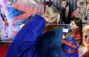 Brie Larson attending Captain Marvel European Gala Premiere
