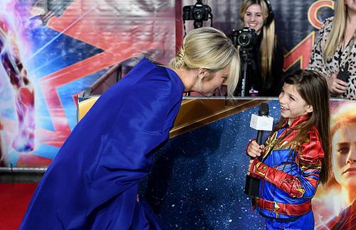 Marvel's Captain Marvel fond d'écran titled Brie Larson attending Captain Marvel European Gala Premiere