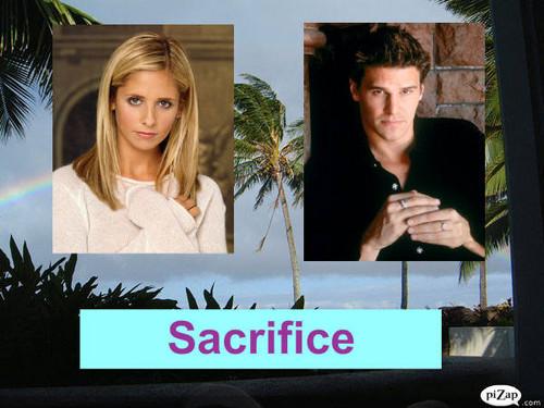 Buffy contre les vampires fond d'écran entitled Buffy Angel Sacrifice