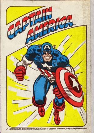 Captain America sticker (1979)