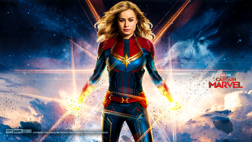 Marvel's Captain Marvel achtergrond titled Captain Marvel (2019)