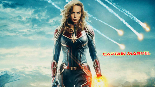 Marvel's Captain Marvel fond d'écran titled Captain Marvel (2019)