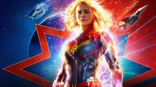 Marvel's Captain Marvel fond d'écran titled Captain Marvel (2019)