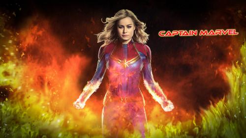 Marvel's Captain Marvel Hintergrund titled Captain Marvel (2019)