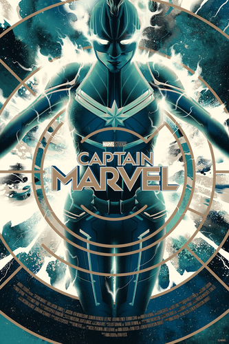 Marvel's Captain Marvel fond d'écran entitled Captain Marvel Posters par Matt Taylor